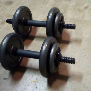Fitness Gear 20# adjustable dumbbells (40# total) for Sale in Garland, TX