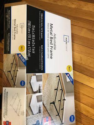 Adjustable metal bed frame TW-Q for Sale in South Portland, ME
