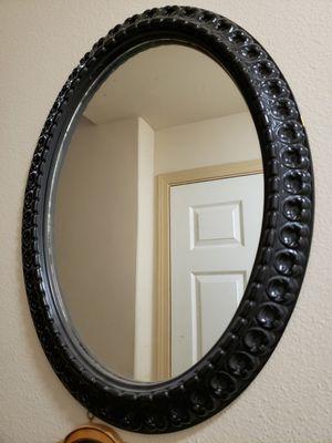 Black oval mirror for Sale in Fife, WA