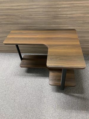 New in box $30 each 32x24x20 inches tall L shape corner modern contemporary mid century design 2 tier coffee table for Sale in Whittier, CA