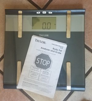 Taylor Body Fat Analyzer Scale for Sale in Clearwater, FL