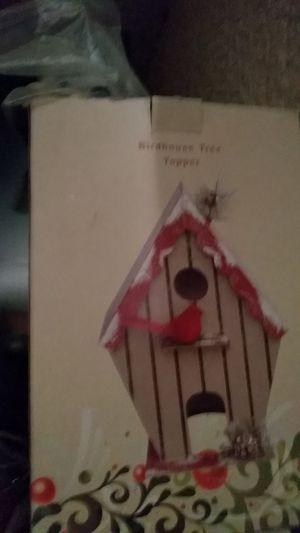 Birdhouse tree topper for Sale in Bartow, FL