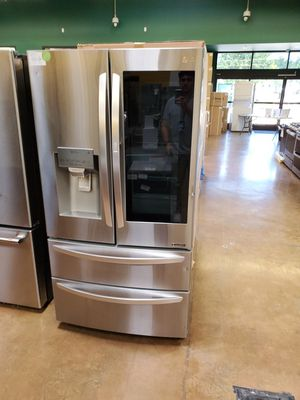 Lg French door refrigerator with instaview for Sale in Los Angeles, CA