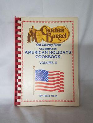 Cracker Barrel American Holidays Cookbook for Sale in Davenport, FL