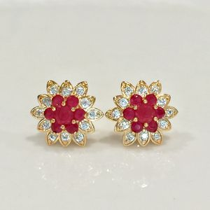 18k gold filled studs earrings jewelry accessory red gift Christmas for Sale in Silver Spring, MD