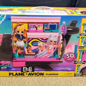 LOL Surprise OMG Remix 4-in-1 Plane Playset Transforms with 50 Surprises for Sale in Kissimmee, FL