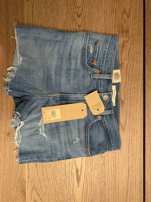 High Rise Levi's Shorts | 28 | Mid-Wash | Brand New for Sale in Fremont, CA
