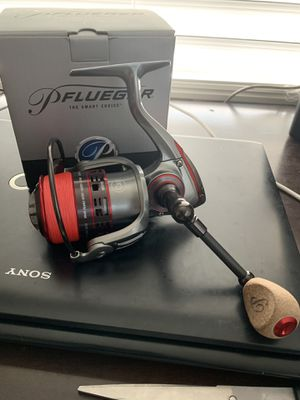 Brand new Pflueger president XTSP35 fishing reel with 15 lb braided line for Sale in Coral Springs, FL