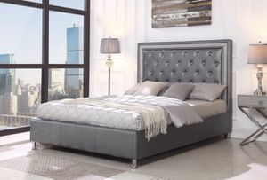 New Gray Diamond Queen Bed for Sale in San Antonio, TX