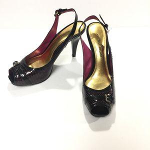 Antonio Melani Ultimate Black & Pink Peep Toe 8M for Sale in McAllen, TX