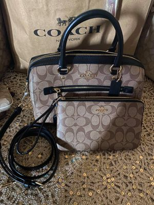 Coach Brown and Black Purse and Wallet Set for Sale in Colton, CA
