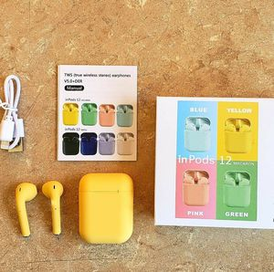 YELLOW INPODS 12 TWS bluetooth 5.0 headset wireless touch for Sale in Los Angeles, CA