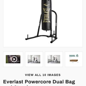 Everlast Punching Bag And Speed Bag Stand for Sale in Huntington Beach, CA