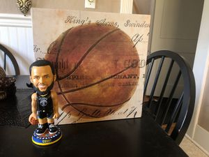 Steph Curry Bobblehead and Canvas for Sale in Montesano, WA