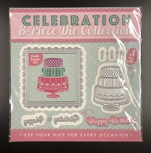 Celebration 8 Piece Die Collection Set - Happy Birthday Cake With Candles for Sale in Rives Junction, MI
