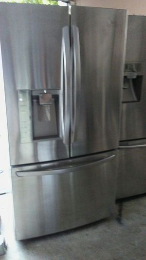 French door stainless steel refrigerator like new for Sale in Pompano Beach, FL