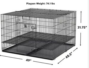 "Euc- Midwest Homes for Puppy Playpen with 1/2"" Floor Grid, 48"" L X 47"" W X 31.5"" H for Sale in Phoenix, AZ"