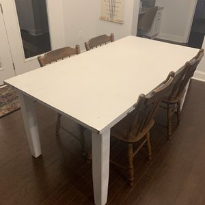 White Kitchen Table for Sale in Raleigh, NC
