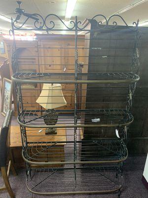 Black/Gold Metal Bakers rack for Sale in Huntington Beach, CA