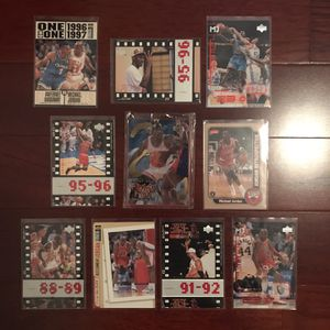 Michael Jordan Basketball 10-Card Lot #2. Sealed Upper Deck Metal Card! for Sale in Clermont, FL