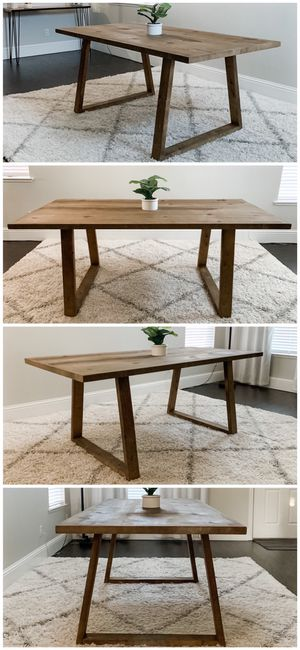 6FT x 3FT Solid Wood Rustic Modern Dining Table for Sale in San Francisco, CA