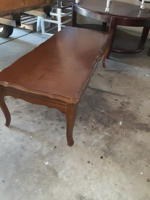 Firm price solid wood coffee table for Sale in Durham, NC