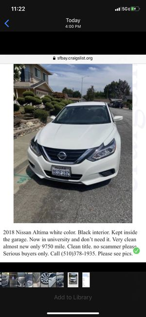 Nissan Altima 2018 for Sale in Fremont, CA