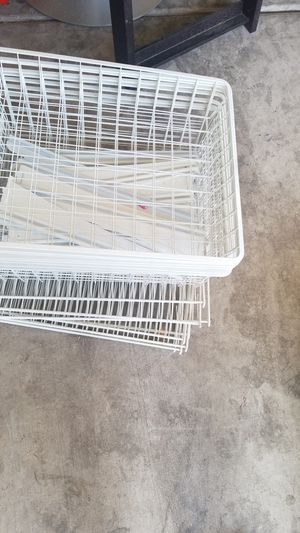 Wire wall shelves and baskets. for Sale in Las Vegas, NV