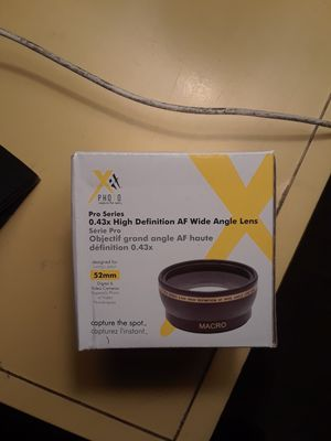 x photo pro series 0.43x high definition af wide angle lens for Sale in San Jose, CA