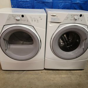 Whirlpool Washer And Electric Dryer Set Good Working Condition Set For $299 for Sale in Wheat Ridge, CO