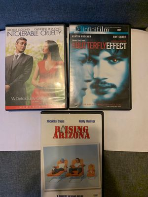 RAISING ARIZONA, INTOLERABLE CRUELTY & THE BUTTERFLY EFFECT BUNDLE for Sale in New York, NY
