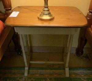 Antique Small Walnut Table w Hand Painted Base & Drawer for Sale in Lehighton, PA