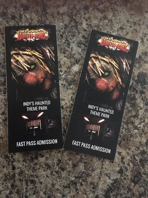 2 FAST PASS tickets for Hannah Haunted Acres for Sale in Indianapolis, IN