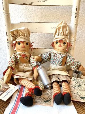 Raggedy Ann & Andy Folk Art Cloth Dolls - Museum Collection for Sale in San Clemente, CA