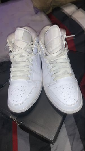 Jordan 1 white for Sale in Tamarac, FL