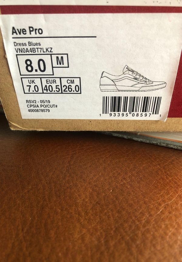 Vans AVE shoes brand new sz 8
