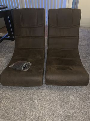 Suede gaming chairs cords included for Sale in Detroit, MI