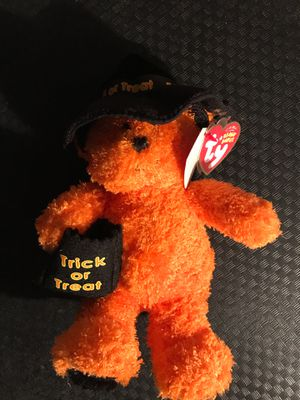 Ty beanie babies halloween collectibles collectible teddy bear teddybear witch orange toy action figures for Sale in Ripon, CA
