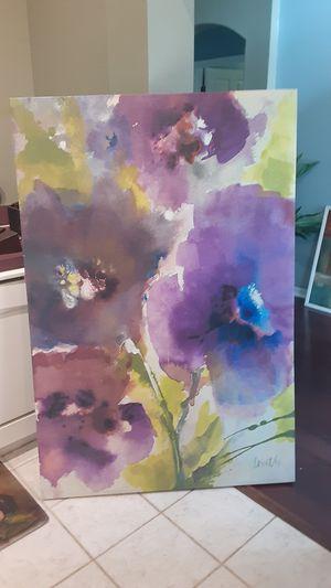 Beautiful Purple & Green Flower Canvas Art for Sale in Tampa, FL