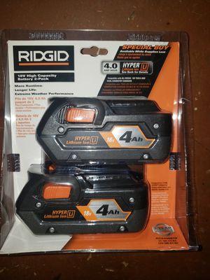 Ridgid 18v battery 4.0Ah for Sale in Lighthouse Point, FL