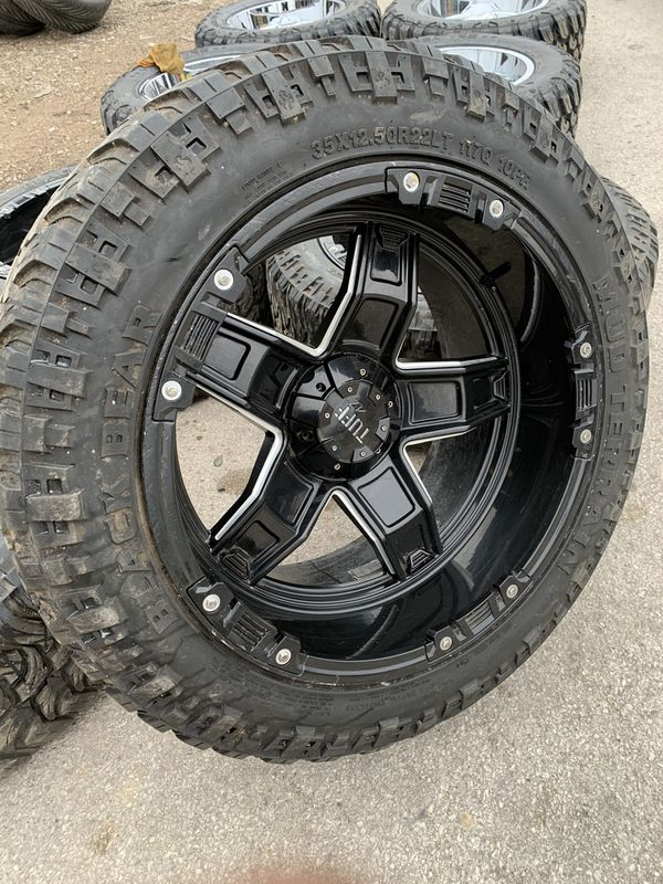 Cheap Price!! 22x12 Off Road Black Rims And 35x12.50r20