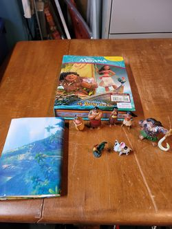 Disney Moana Book With Figurines for Sale in Kent,  WA