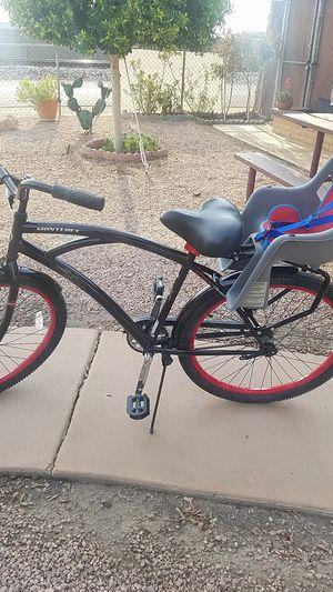 "Beautiful 26"" MONTEREY BLACK STREET CRUISER Bike/Bell bike seat for Sale in Phoenix, AZ"