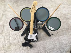 Wii Rock Band Complete Instrument Set for Sale in Annapolis, MD