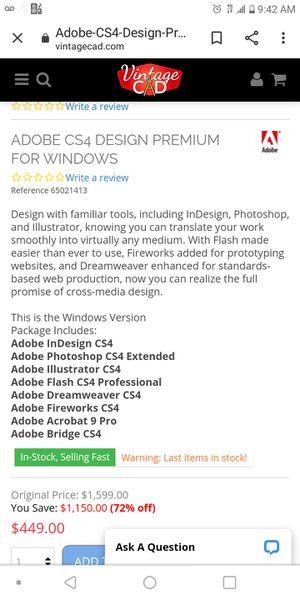 Adobe Creative Design premium suite 4 for Sale in Dallas, TX