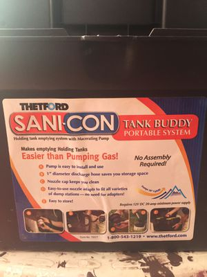 SANI-CON Tank Buddy Black Water Holding Waste Take Pump for Sale in Medford, OR