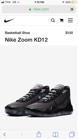Nike Zoom KD12 -Brand New in Box -size 9.5 but I can exchange for dif size if needed for Sale in Katy, TX