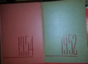 1952 & 1954 Yearbooks Unicorn Books Year in Review w Membership Introduction Letter for Sale in Akron, OH