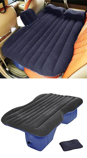 "New in box $25 Inflatable Mattress Car Air Bed Backseat Cushion w/ Pillow Pump 54x33"" for Sale in Downey, CA"