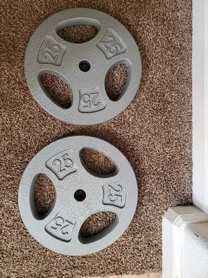 2 standard 25lb plates. for Sale in Madera, CA